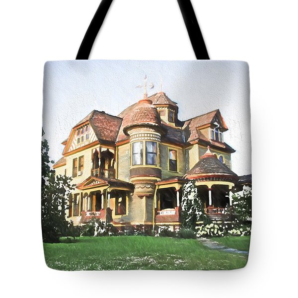 Victorian House Tote Bag by Ericamaxine Price
