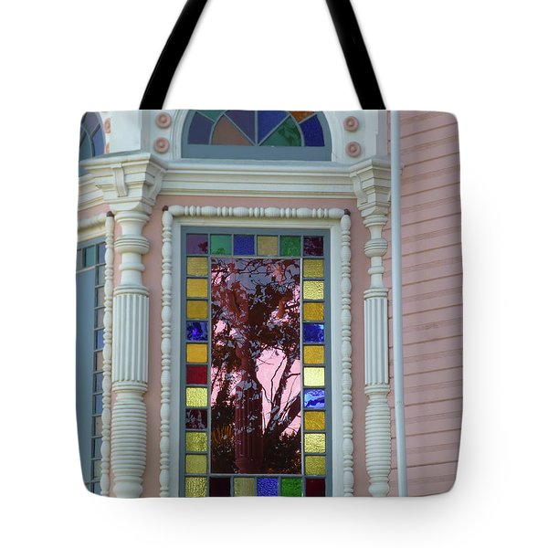 Victorian House Window Tote Bag