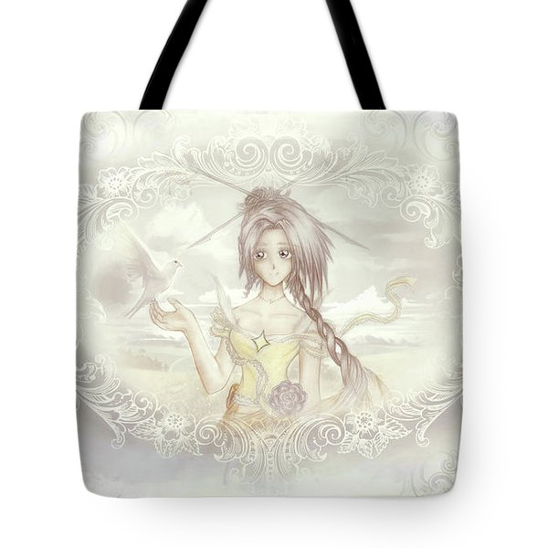 Tote Bag featuring the mixed media Victorian Princess Altiana by Shawn Dall