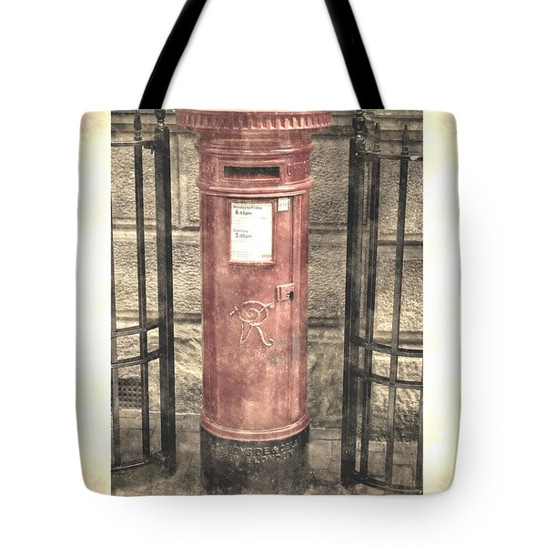 Victorian Red Post Box Tote Bag