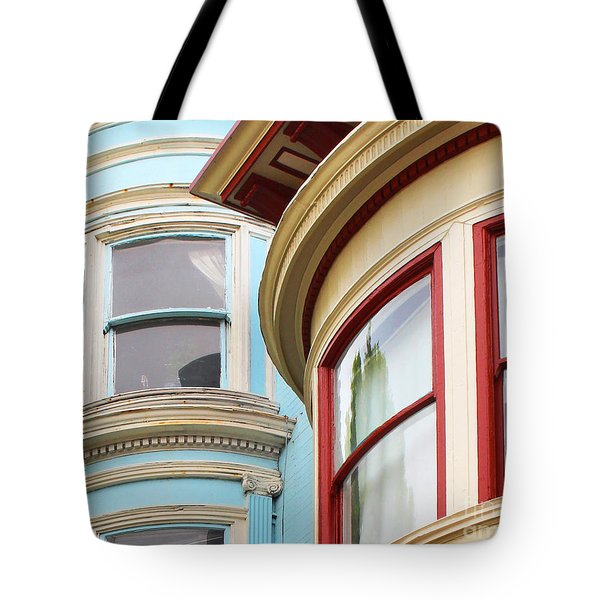 Victorian San Francisco Tote Bag