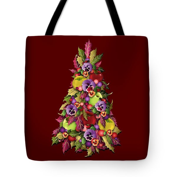 Tote Bag featuring the digital art Victorian Style Holiday Tree by MM Anderson