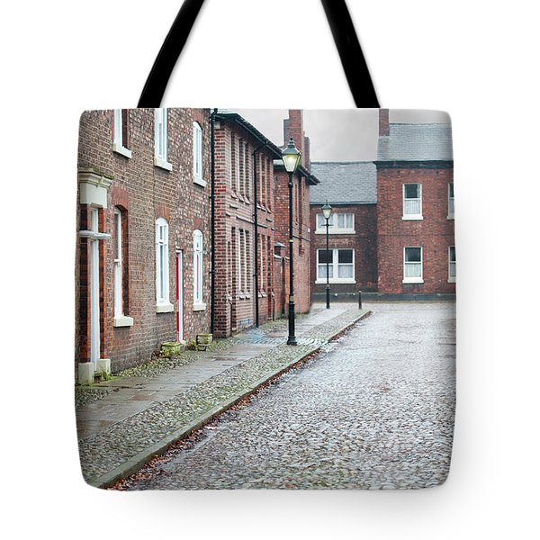 Victorian Terraced Street Of Working Class Red Brick Houses Tote Bag