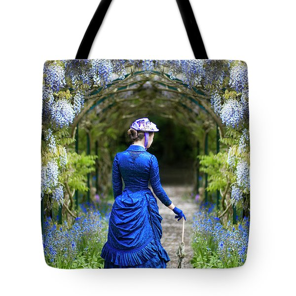 Victorian Woman With Wisteria Tote Bag