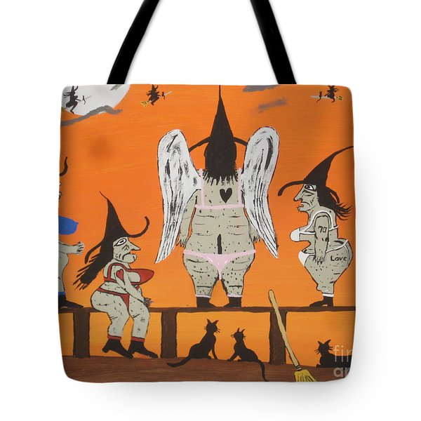 Victoria's Secret Witches Tote Bag by Jeffrey Koss