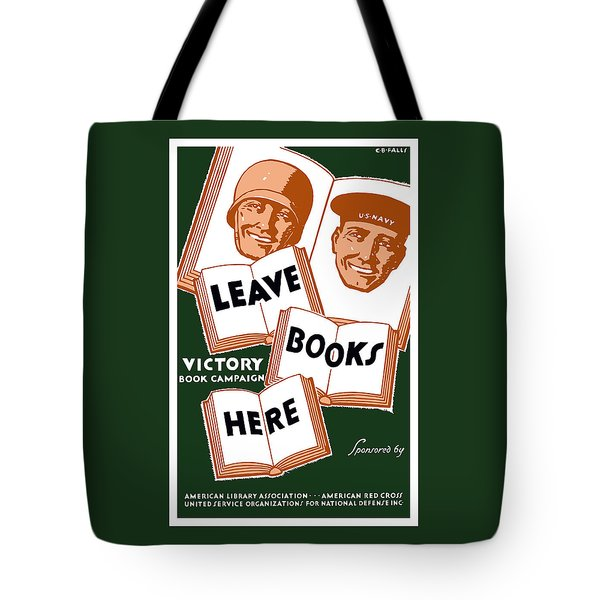 Victory Book Campaign - Wpa Tote Bag by War Is Hell Store