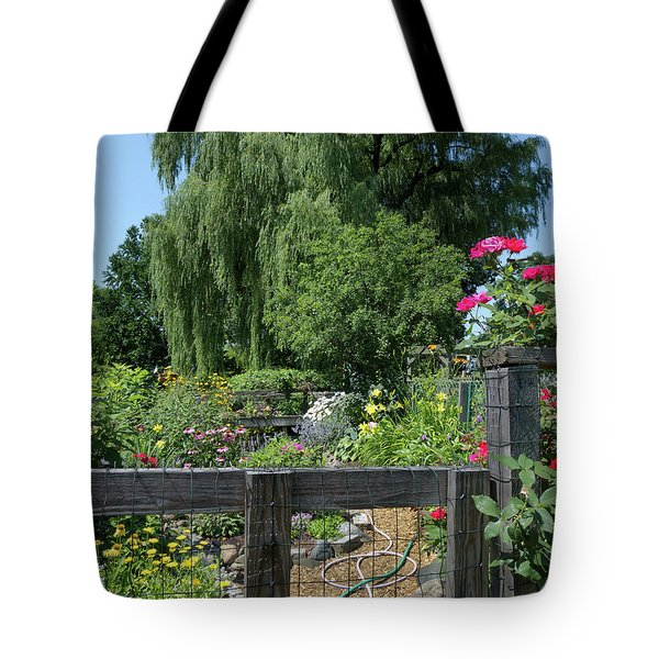 Victory Garden Lot And Willow Tree, Boston, Massachusetts  -30958 Tote Bag
