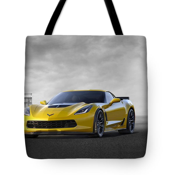 Tote Bag featuring the digital art Victory Yellow  by Peter Chilelli