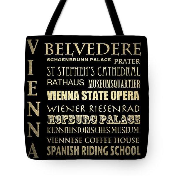 Vienna Austria Famous Landmarks Tote Bag