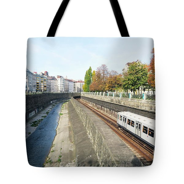 Vienna Canal Tote Bag by Christian Slanec