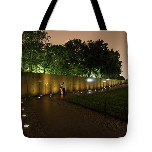 Vietnam Memorial By Night Tote Bag