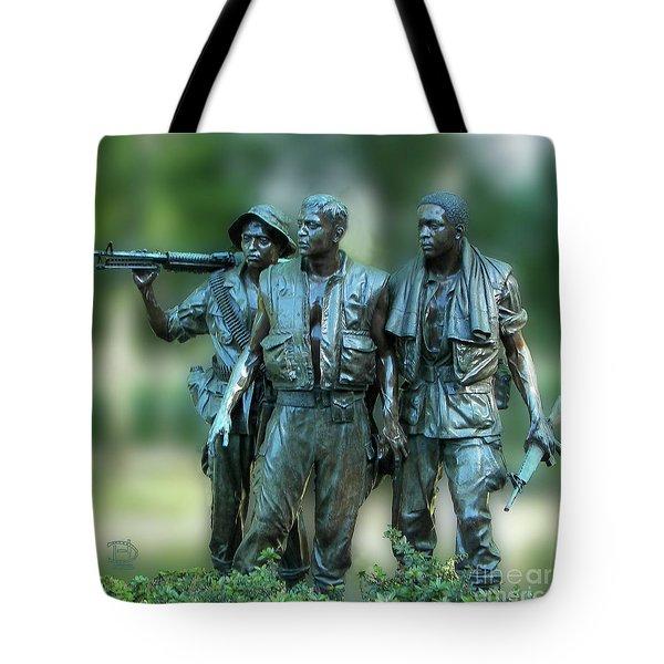 Vietnam Memorial Soldiers Tote Bag