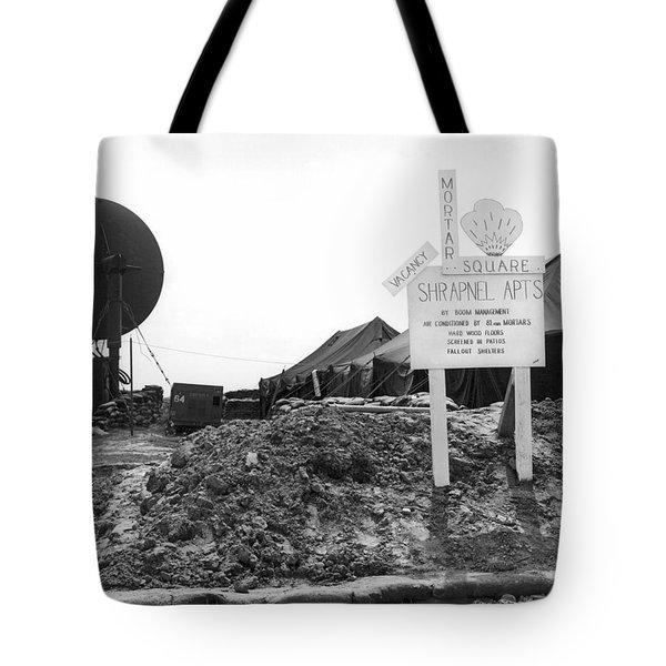 Vietnam Mortar Square Housing Tote Bag