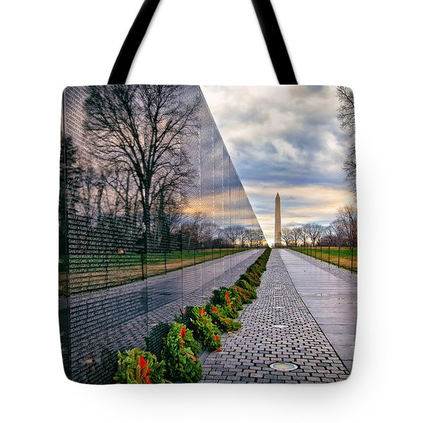 Vietnam War Memorial, Washington, Dc, Usa Tote Bag