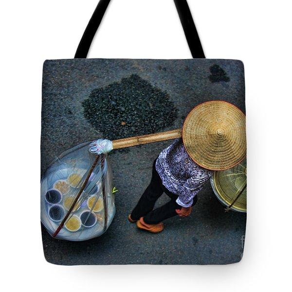 Vietnamese Woman Work Tote Bag