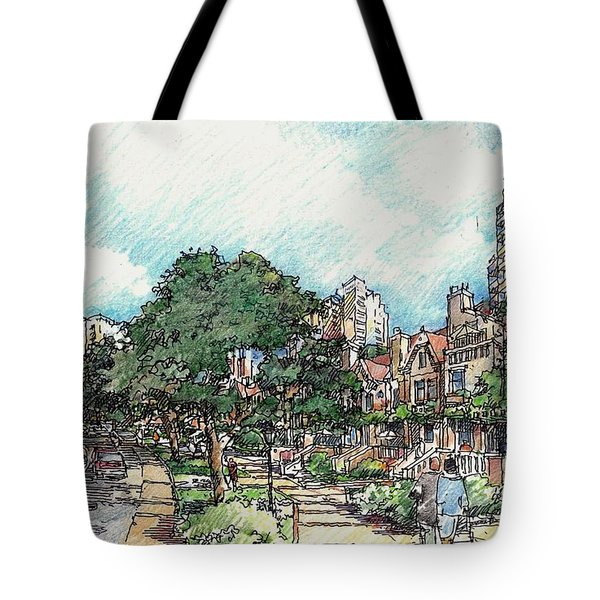 View 1 Tote Bag by Andrew Drozdowicz