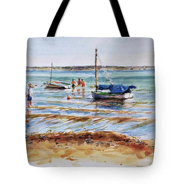 View Across Provincetown Harbor Tote Bag by Peter Salwen