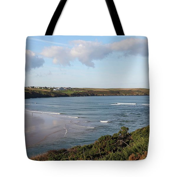 Tote Bag featuring the photograph View Across The Gannel Estuary by Nicholas Burningham