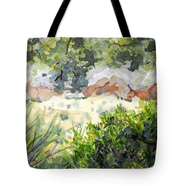 View At Red Rock Tote Bag by Vicki  Housel