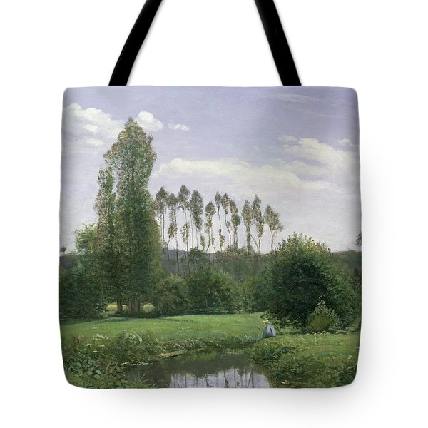 View At Rouelles Tote Bag by Claude Monet