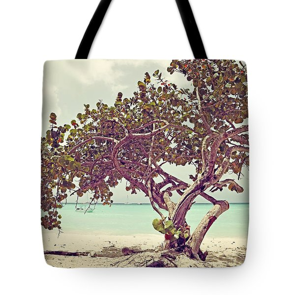 View At The Ocean With Boats In The Water Tote Bag