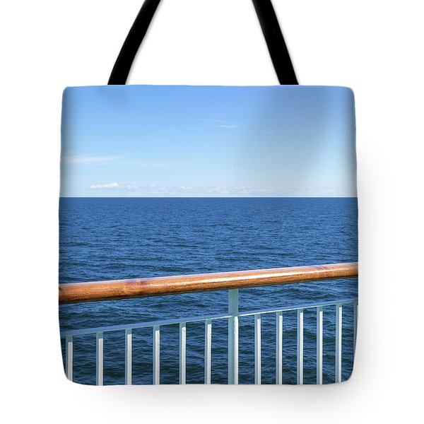 View At The Sea From Passenger Ship Tote Bag