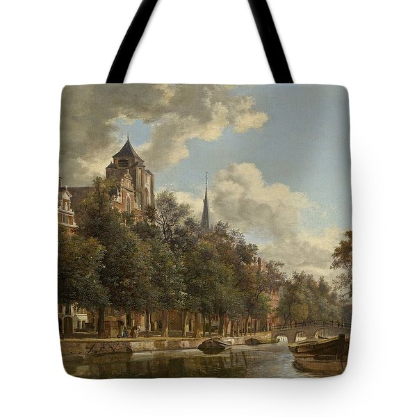 View Down A Dutch Canal Tote Bag
