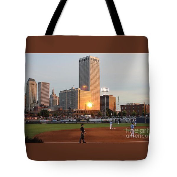 View From 3rd Base Tote Bag