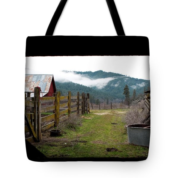 View From A Barn Tote Bag