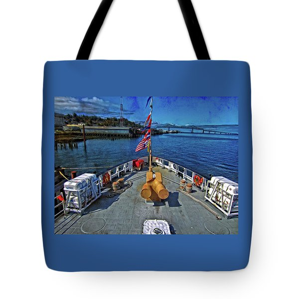 Tote Bag featuring the photograph View From The Deck by Thom Zehrfeld