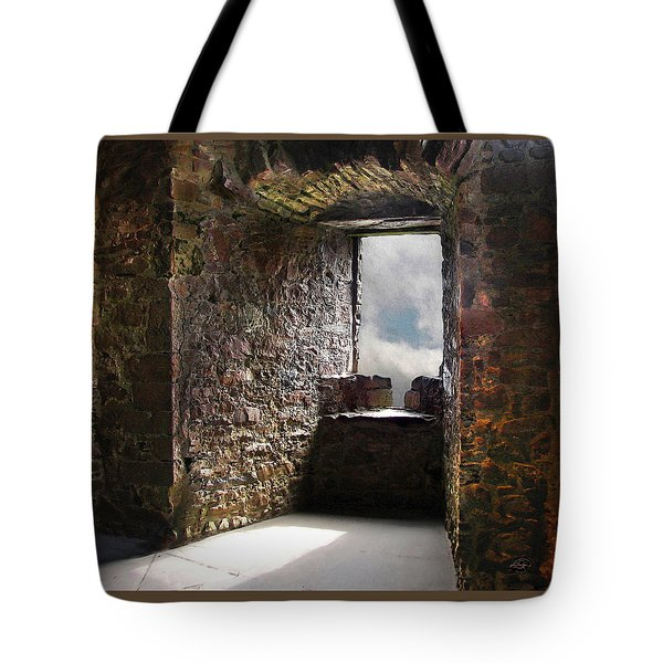 View From A Lofty Tower Tote Bag