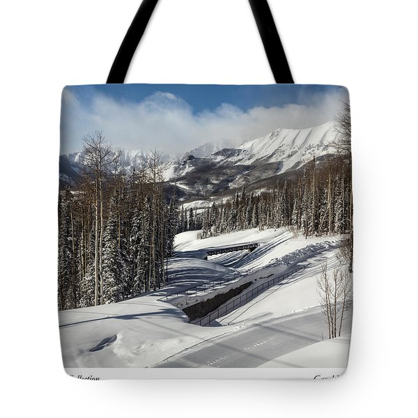 View From A Mountain Above Telluride In Colorado Tote Bag