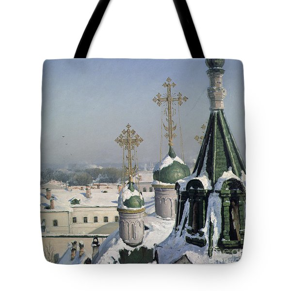 View From A Window Of The Moscow School Of Painting Tote Bag by Sergei Ivanovich Svetoslavsky