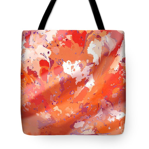 View From Above In Orange Tote Bag