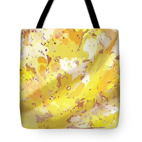 View From Above In Yellow Tote Bag