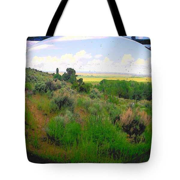 View From Cabin Window Tote Bag by Lenore Senior