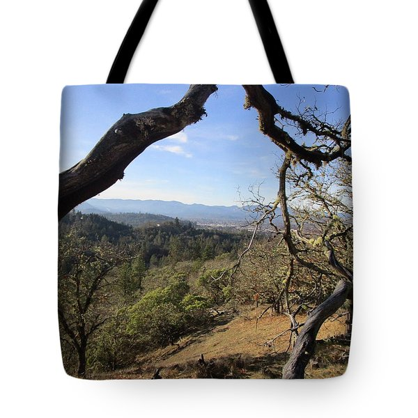 View From Cathedral Hills Tote Bag