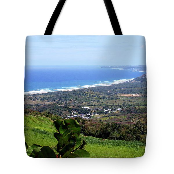 Tote Bag featuring the photograph View From Cherry Hill, Barbados by Kurt Van Wagner