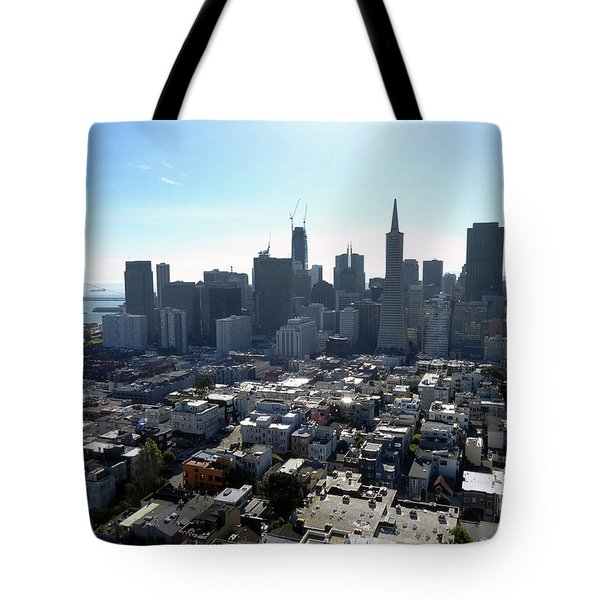Tote Bag featuring the photograph View From Coit Tower by Steven Spak