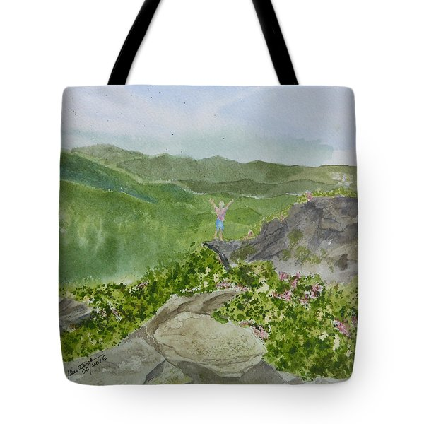 View From Craggy Gardens - A Watercolor Sketch  Tote Bag