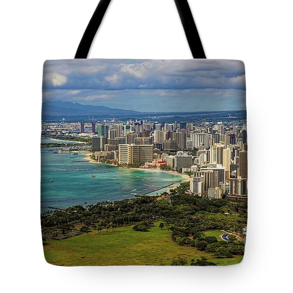 View From Diamond Head Tote Bag by Jon Burch Photography