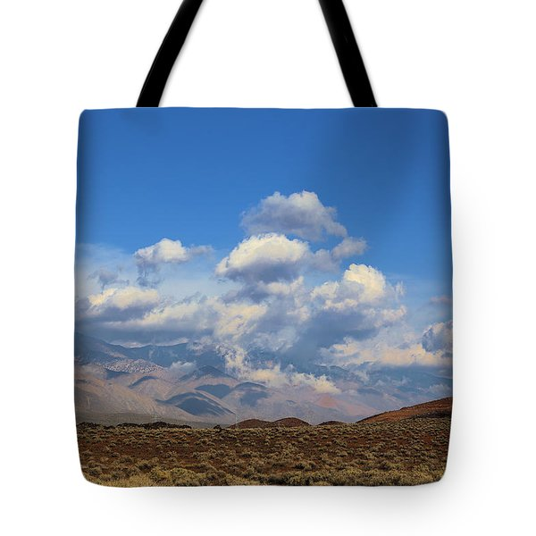View From Fossil Falls Campground Tote Bag