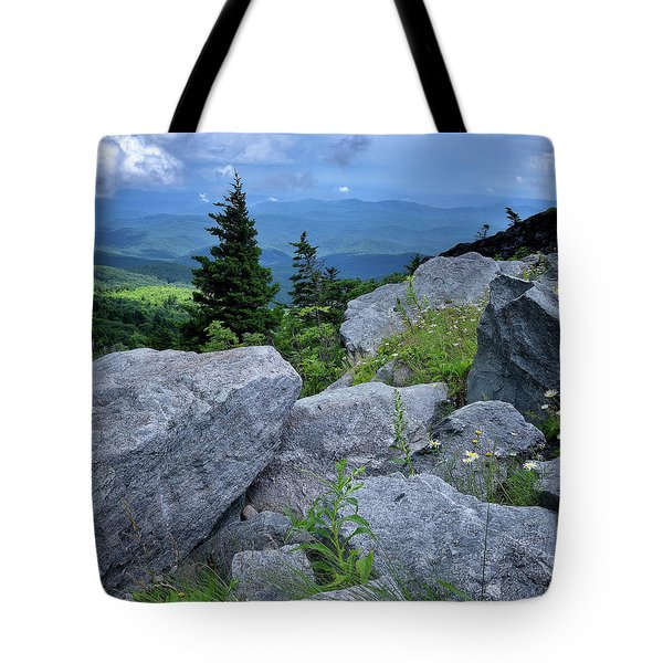 View From Grandfather Mtn Nc Tote Bag