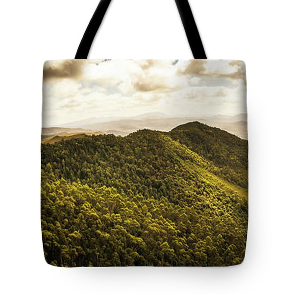 View From Halfway Up Mount Zeehan Tote Bag