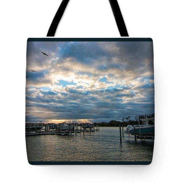 View From Marina Bay Tote Bag