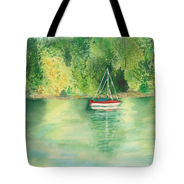 Tote Bag featuring the painting View From Millbay Ferry by Vicki  Housel