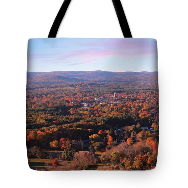 View From Mount Tom In Easthampton, Ma Tote Bag