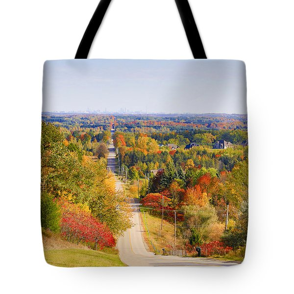 View From Mount Wolfe Tote Bag by Gary Hall