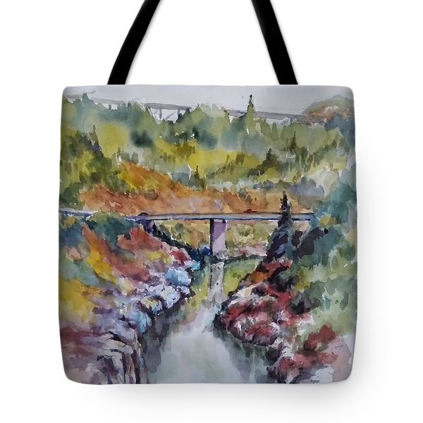 View From No Hands Bridge Tote Bag
