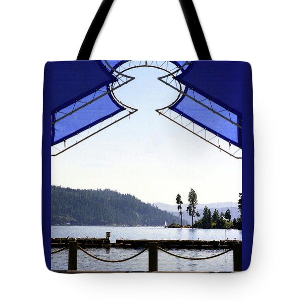 View From Pier Tote Bag by Emanuel Tanjala